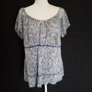 Venezia lace top. Size 18/20